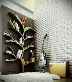Tree Bookshelf. Wish I could buy or make something like this!
