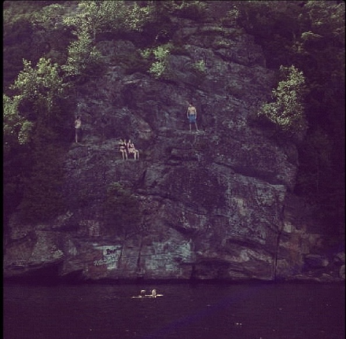 I jumped off a cliff today! (at Echo Rock in the Muskoka's)