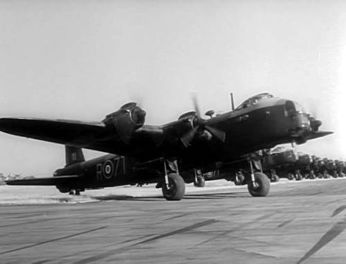 Short Stirling Mk.IV transports lined up