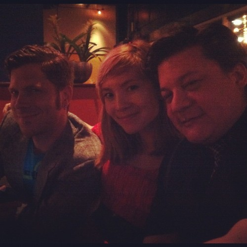 Me, @mingdoyle, & @evilcalman. Chillin.  (Taken with Instagram at Brixx Wood-Fired Pizza)