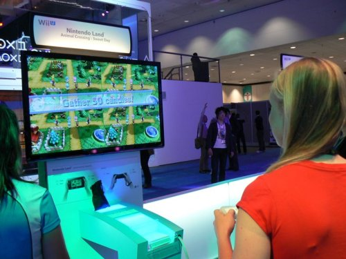 Playing Animal Crossing on the WiiU. E3 2012 [via]