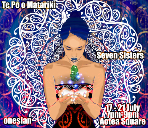 my upcoming live installation in Aotearoa this July..  Te Po o Matariki / Seven Sisters