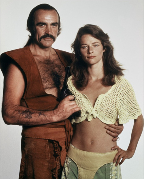 Sean Connery and Sara Kestelman in Zardoz (1974)