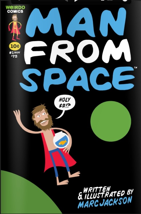 "The Man From Space: Now With A New Look!comicbooked.com When I first reviewed Marc Jack­son's cre­ator owned comic book, Man From Space, I admit­ted­ly didn't have too many nice things to say about the art. I referred to it as ""sim­ple yet vibrant"", and went on to just describe how Marc used…"