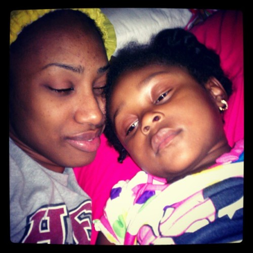 I told her we #TeamNoSleep but she can't hang lol . (Taken with Instagram)