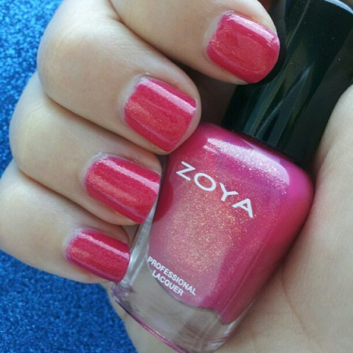 #notd #nails #nailpolish #zoyanailpolish #zoya #zoyapinterest #kimber #pink  (Taken with Instagram)