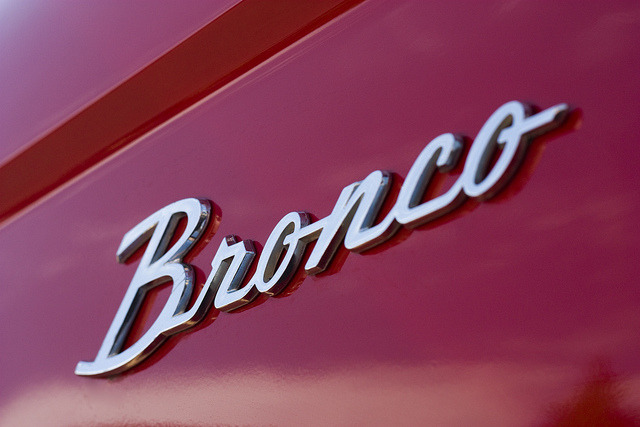 Classy #Ford #Bronco Emblem jcm7:  Bronco on Flickr. Emblem on a nicely restored 1971 Ford Bronco.