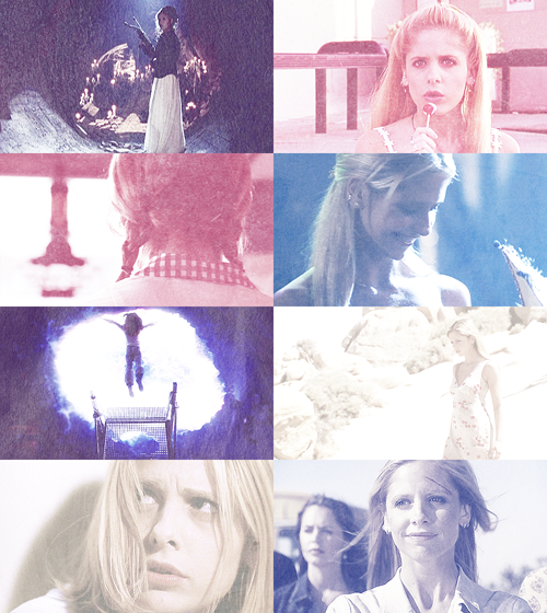 "HBIC Alphabet » Buffy Summers ""No, it doesn't stop! It never stops! Do-do you think I chose to be like this? Do you have any idea how lonely it is, how dangerous? I would love to be upstairs watching TV or gossiping about boys or… God, even studying! But I have to save the world… again."""