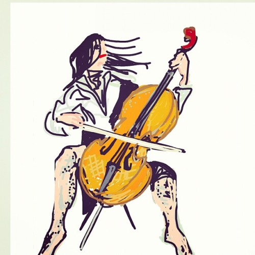doctornvrmore:  #DrawSomething #Draw #Cello #Drawing #Music (Taken with Instagram)