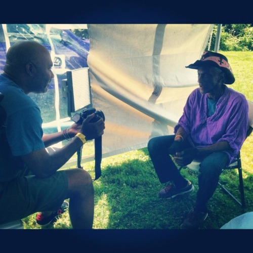 That's me shooting B roll as Bernie Worrell tells tales of making music with  the mini-moog synthesizer with a variety of bands, including his BWO (Bernie Worrell Orchestra.)