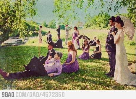 9gag:  Wanna have a wedding portrait like this!