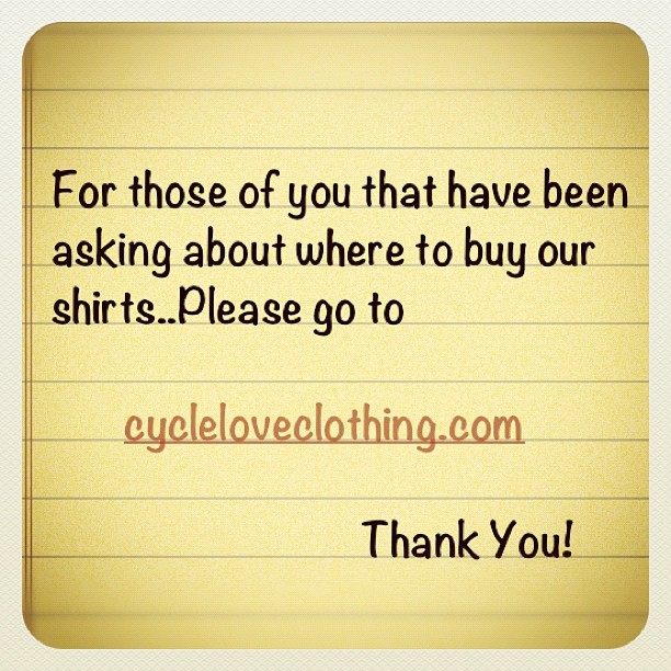 #thankyou #bicycle #bike #store #shop #fixedgear #graphictee #cycling #igerscycling #bikeporn #bikelove #cyclelove #mtb #bmx #losangeles #bayarea  (Taken with Instagram)