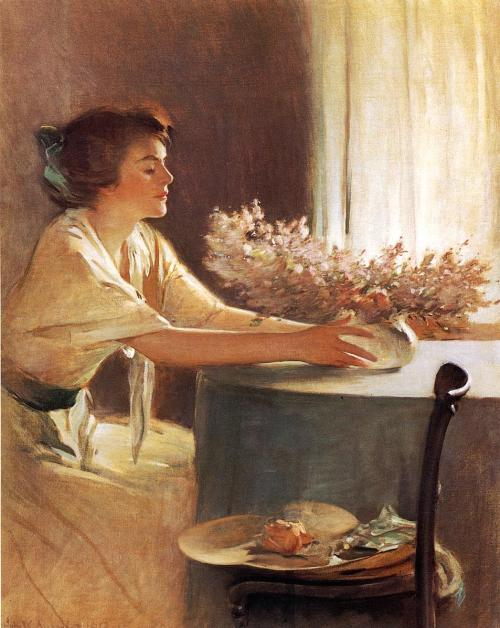 labellefilleart:  A Meadow Flower, John White Alexander.