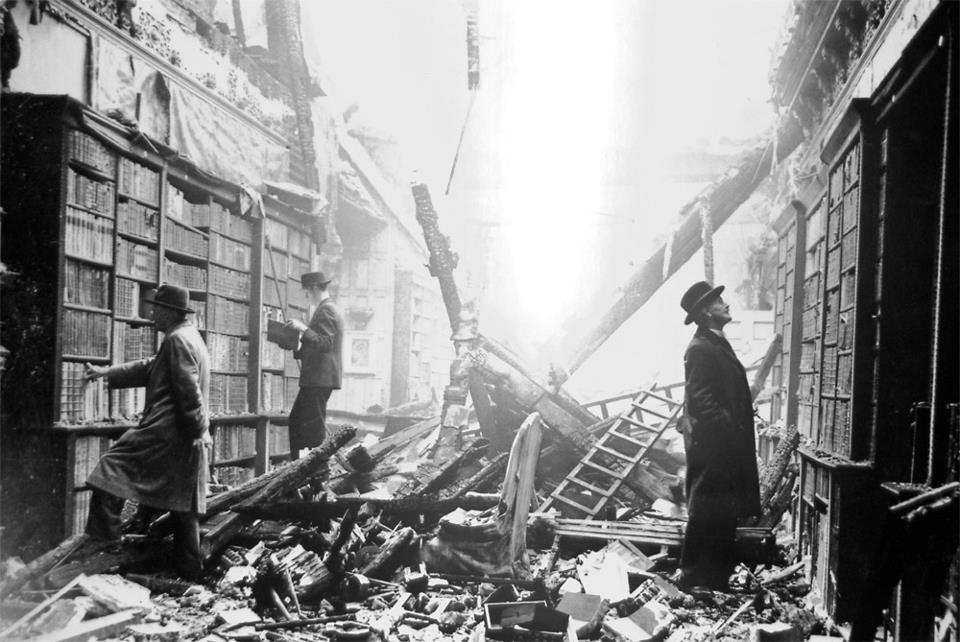 Holland House Library, destroyed in the Blitz 1940
