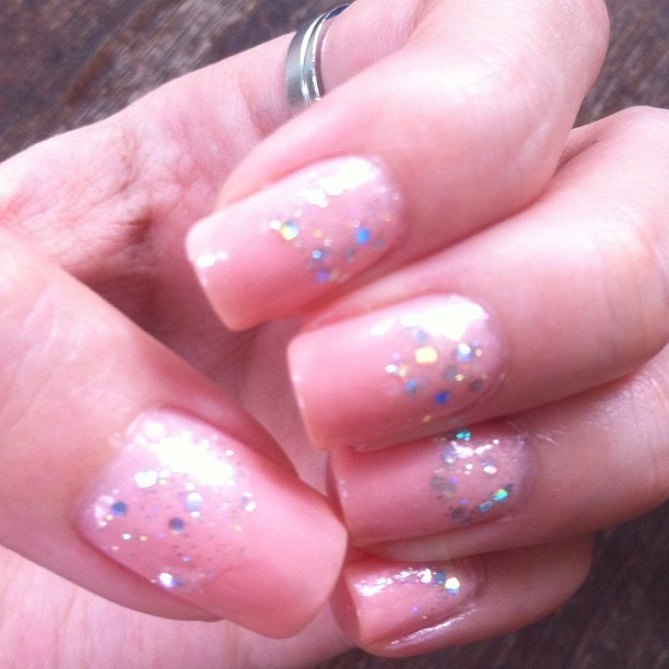 Wish the glitters are more sparkly #nails #nailstagram #nailpolish #naildesign #nailart (Taken with Instagram)
