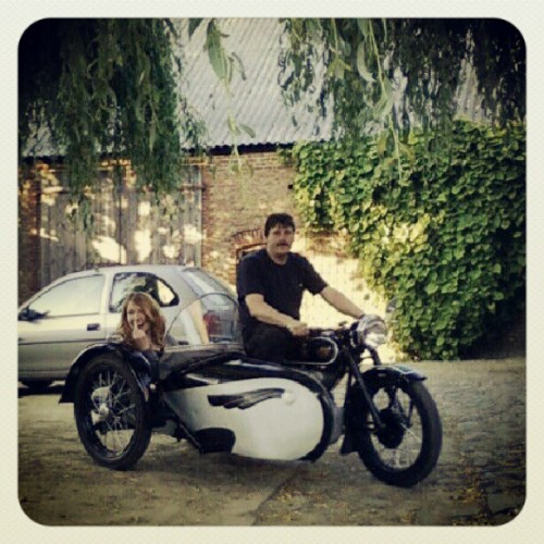 Sorry Basti, but he has wheels :p…. #me #gpoy #bergsdorf #motorbike #motorcycle #sidecar #vintage #Germany #Harley  (Taken with Instagram)