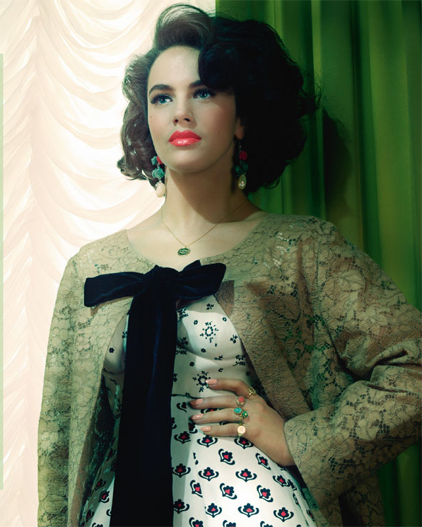 Jessica Brown-Findlay photographed by Miles Aldridge for Vogue Italia, June 2012