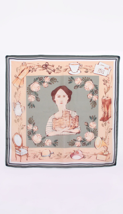 suicideblonde:  Downton Abbey silk scarf anyone?    By Kelsey Garrity-Riley  This is just the kind of thing that makes me hate myself. :<