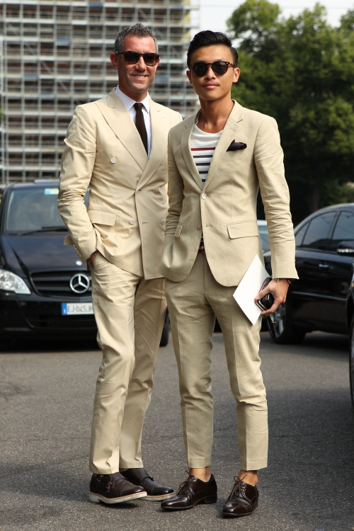 Incredible. WGSN street shot, Milan Men's Week.