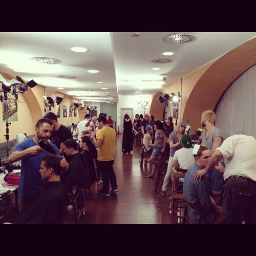 Backstage at Salvatore Ferragamo in Milano.  (Taken with Instagram)