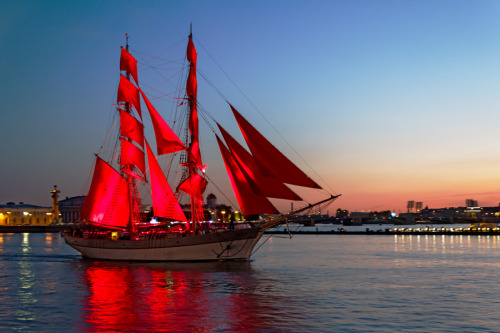 "magicalnaturetour:  ""Red Sails"" by Alexander Shutter :)"