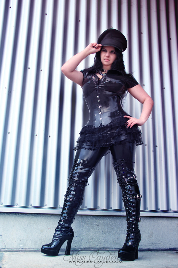 """Black Latex Officer"" Model: Catherine Cayden (www.miss-cayden.de)"