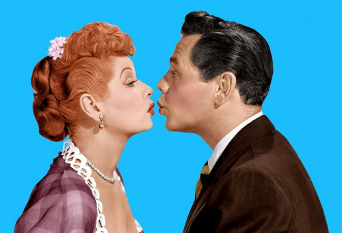 theniftyfifties:  Lucille Ball and Desi Arnaz