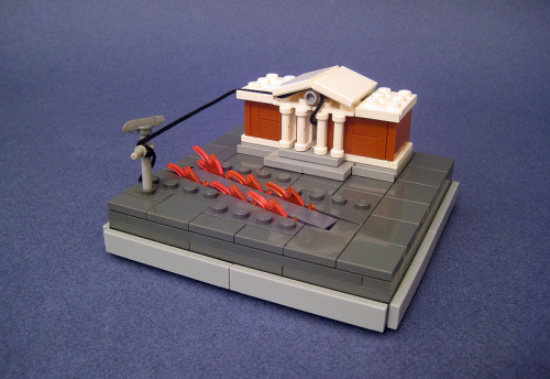 legollection:  Back To The Future LEGO microscale scene #lego #bttf #win