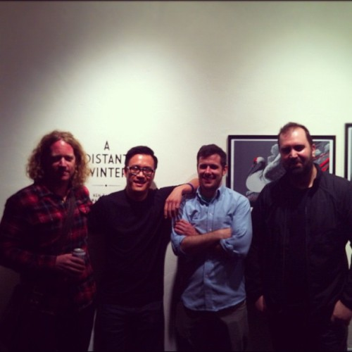 @kentaylorart , me, Rich Kelly, and Martin Ansin at @phoneboothgallery. It was so amazing to meet these guys and see their work in person. This was the best night I have had in a long time. (Taken with Instagram)