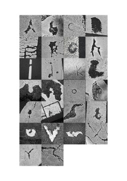 an alphabet made of parts of zebra crossings..
