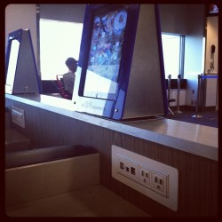 The new LGA- iPads and computer dock stations (Taken with Instagram)