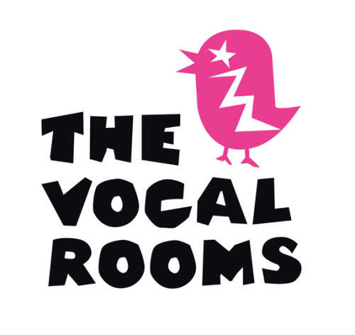 The Vocal Rooms Identity. Logo design, character illustration and marketing comms look & feel for a modern Karaoke bar. (created by Chloe Dunne for Honey Creative)