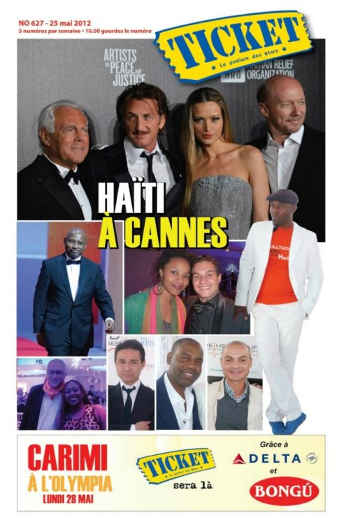 The Heart Fund en couverture du magazine haïtien TICKET.