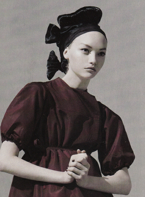 Gemma Ward in Prada by Steven Meisel for American Vogue