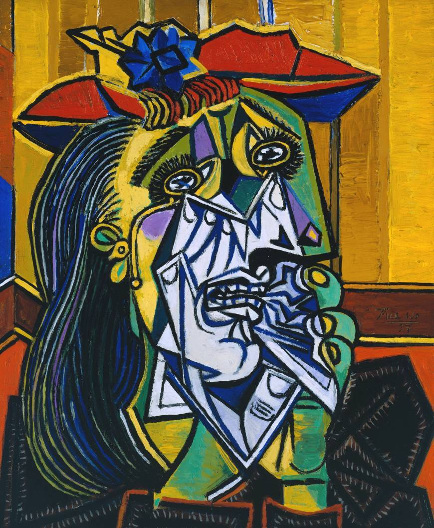 artpedia:  Pablo Picasso - Weeping Woman, 1937. Oil on canvas