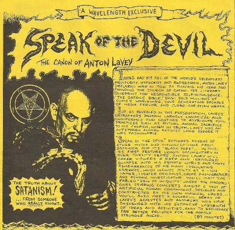 sagan-indiana:  Promotional poster for the doco The Devil Speaks, 95'.