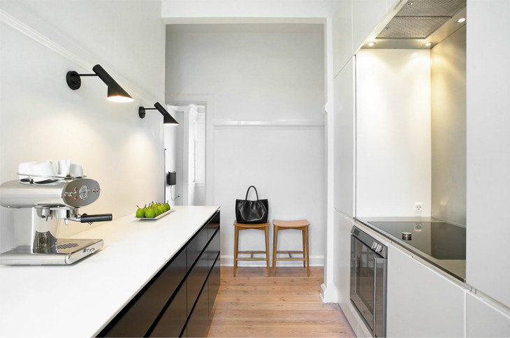 homeandinteriors:  Clean and simple apartment in Aarhus  The coffee machine! and the cupboards