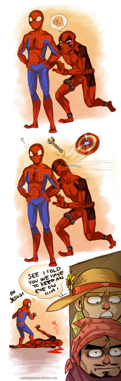 captaingalaga:  Yea Tony you should  Only you attacked his best friend.