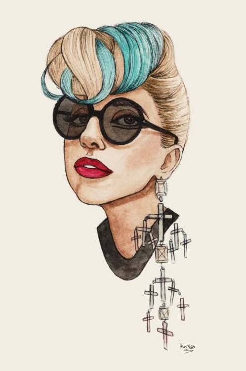 dollychops:  Gaga Teal Blonde
