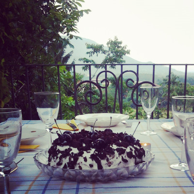 A cake with a view. At Truc Balari - countryside resort.