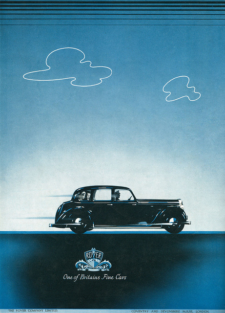 Advertisement for Rover Cars. by totallymystified on Flickr.1939 Advertisement for Rover Cars