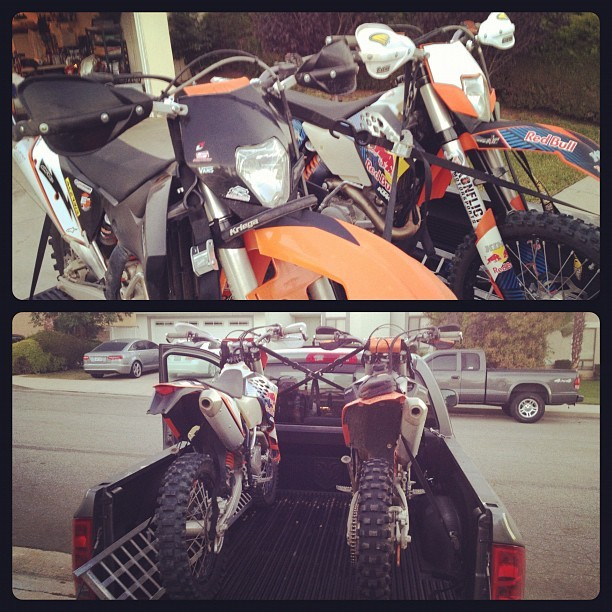 Going for a ride with Matt! #ktm #dirtbikes (Taken with Instagram)