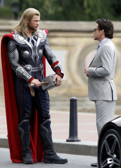 "Thor and Tony Stark, ""The Avengers"""