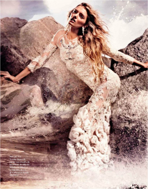 fuckyeahvintagediary:  Lily Donaldson by Alexi Lubomirski for Vogue Spain May 2012