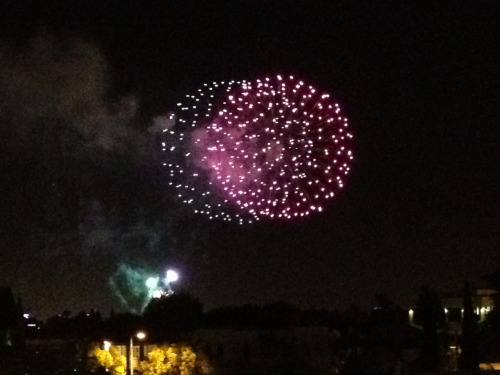 Bonus of playing late night hockey near Disneyland - the nightly fireworks. (Unless you're driving on the freeway.)