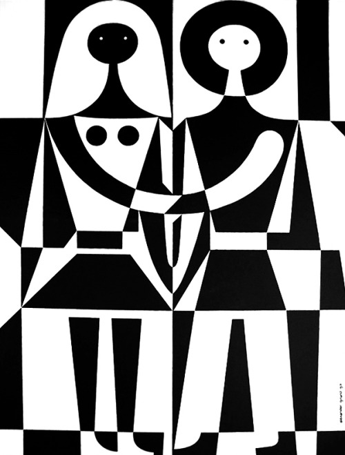 midcenturia:  Alexander Girard, Black and White, 1971, Herman Miller
