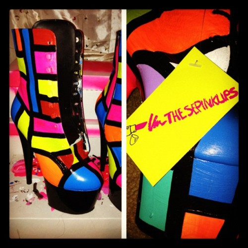 hand painted #BARBEEBOOTZ by #thesepinklips WWW.THESEPINKLIPS.COM