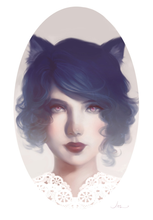 eatsleepdraw:  PORCELAIN  It has been so long since I posted up anything. Had been busy with work and stuff. This was originally a doodle but ended finishing it because I wanted to try a more softer approach.