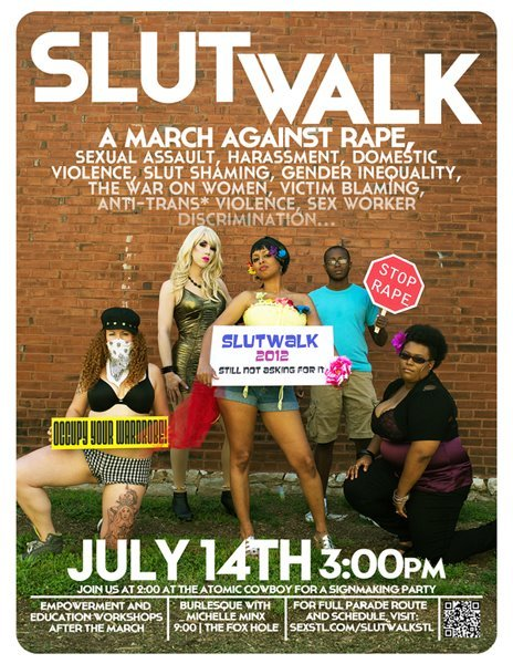 "andythenerd:  One of the things mentioned at the StL SlutWalk Summit this spring was ""make the message more obvious in the advertising"". I think this is one of the most badass posters of all time. Designed by johnnymurdoc. (via SlutWalk St. Louis)"