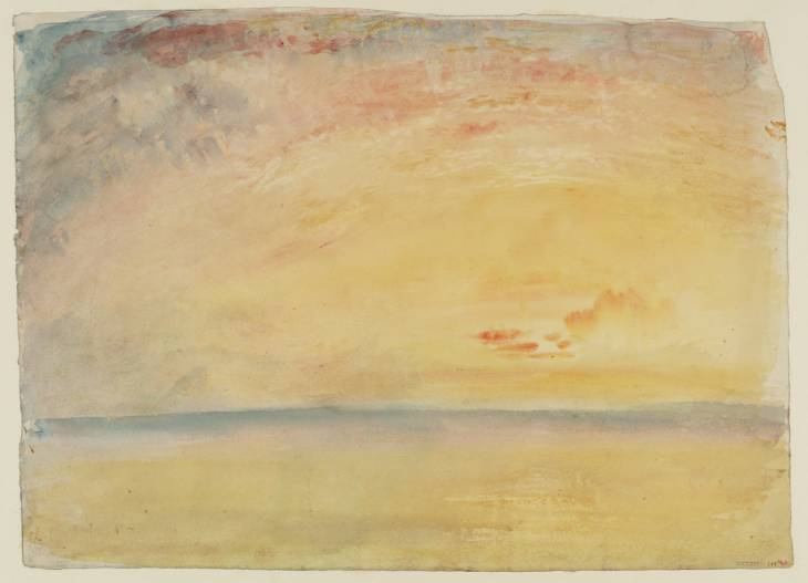JMW Turner (1775-1851), Study for the Flint Castle on the Welsh Coast, 1830, Tate Gallery, London.